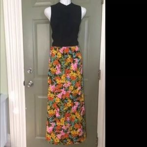 Tori Richards High Neck Hawaiian Floral Dress